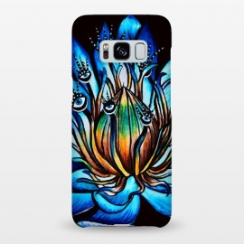 Galaxy S8+  Bizarre Multi Eyed Blue Water Lily Flower Monster by Boriana Giormova