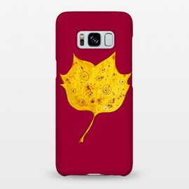 Galaxy S8+  Fancy Yellow Autumn Leaf by Boriana Giormova