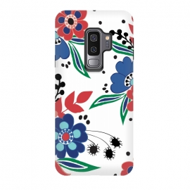 Galaxy S9+  BrightFolk by Dunia Nalu (floral,flowers,flower,nature,folk,bouquet,pattern)
