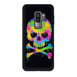 Galaxy S9+  Grafitti Watercolor Skull by Philipp Rietz