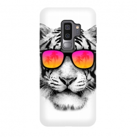 Galaxy S9+  The Coolest Tiger by Mitxel Gonzalez (tiger,cool, tigre,beach,summer,coolest,funny,big cat,cat)