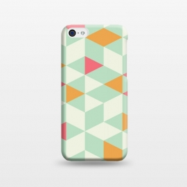 iPhone 5C  Geometric Mint Pattern 014 by Jelena Obradovic