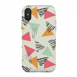 iPhone Xs / X  Geometric Triangle Pattern 015 by