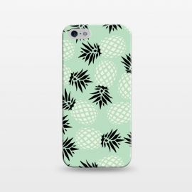 iPhone 5/5E/5s  Pineapple Mint Pattern 023 by Jelena Obradovic
