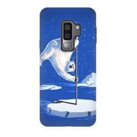 Galaxy S9 plus  North Pole Dancer by  (northpole,pole dancing,polar bear,pole dancer,poledancing,ice,animal,white,cool)