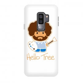 Galaxy S9 plus  hello tree by  (art, bob ross, hello tree, hello kitty, funny,parody,happy little trees)