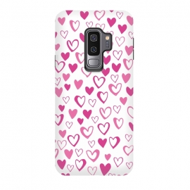 Galaxy S9 plus  Lovehearts by  (Love,Lovehearts,heart,pink)