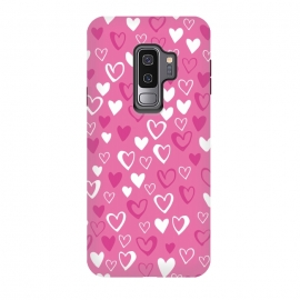 Galaxy S9 plus  Pink Lovehearts by  (Pink,Hearts,loveheart,valentines,romance)