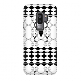 Galaxy S9 plus  Black and White by  (vector,pattern,illustration,geometric,black,white)