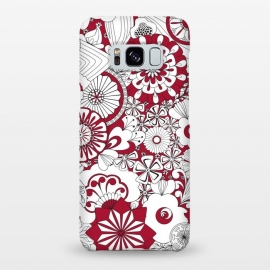Galaxy S8+  70s Flowers - Red and White by Paula Ohreen