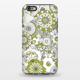 iPhone 6/6s plus  70s Flowers - Green and White by Paula Ohreen
