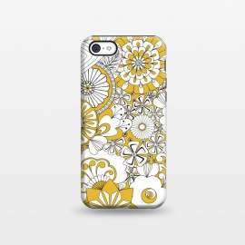 iPhone 5C  70s Flowers - Yellow and White by Paula Ohreen