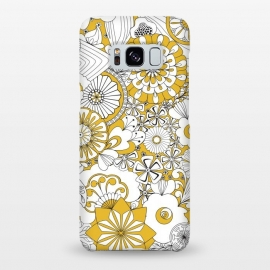 Galaxy S8+  70s Flowers - Yellow and White by Paula Ohreen
