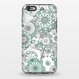 iPhone 6/6s plus  70s Flowers - Mint Green and White by Paula Ohreen