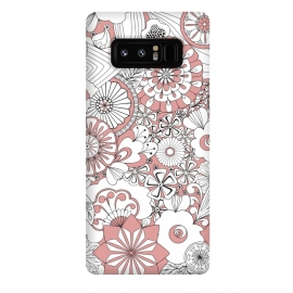 Galaxy Note 8  70s Flowers - Pink and White by Paula Ohreen