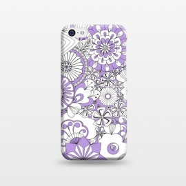 70s Flowers - Lilac and White by Paula Ohreen