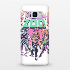 Galaxy S8+  Breaking the Zoo! by Ilustrata (90s, 80s, retro, metal, glam metal, rock, rockstar, vintage, animals, zoo, lion, tiger, rocknroll, band, music, rock star )