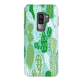 Galaxy S9 plus  Funki Cakti by  (Cacti,succulent,green,blue,cactus,garden,plant)
