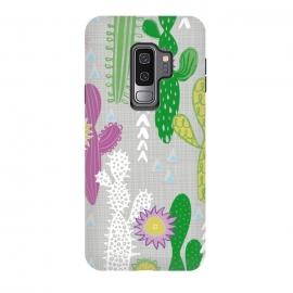 Galaxy S9 plus  Neutral Cakti by  (Cactus,cacti,succulent,geometric)