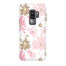 Galaxy S9+  Daisy Daisy - Pink by Bettie * Blue (daisy,daisies,pink,pink flowers,floral,flowers,feminine,girly,girl,spring,sweet)