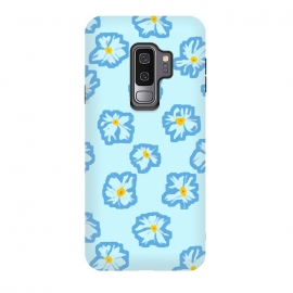 Galaxy S9+  Happy Daysies by Bettie * Blue (daisies, daisy,flower,floral,blue,blue floral,flower pattern)