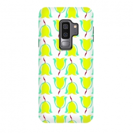 Galaxy S9 plus  Tulips de Chartreuse by  (tulips,flowers,floral,spring,yellow,pattern,modern,contemporary)