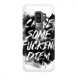 Galaxy S9+  Carpe Diem by Rui Faria (carpe diem,type,typography,ink,paint,watercolor,black and white)
