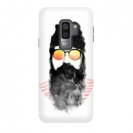 Galaxy S9+  Hipster Chillin by Rui Faria (hipster,beard,sunglasses,summer,spring,ink,paint,man,fashion)