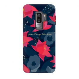 "Galaxy S9+  Midnight Flowers - ""Good things take time"" by Stefania Pochesci"