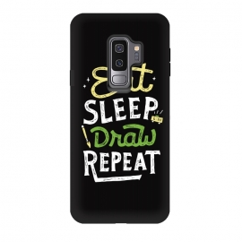 Galaxy S9 plus  Repeat by  (quotes)