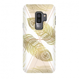Galaxy S9 plus  Gold Feathers by