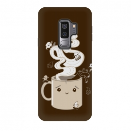 Galaxy S9+  Extreme Coffee Sports by Wotto (coffee,caffiene,coffee lover,mug,java,monday, cute,extreme sports,surfing,skateboarding, sugar cube,splash,cup,fun, kawaii, wotto)
