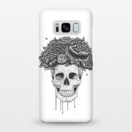 Galaxy S8+  Skull with flowers by kodamorkovkart