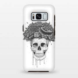 Galaxy S8 plus  Skull with flowers by
