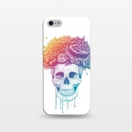 iPhone 5/5E/5s  Colorful skull with flowers by kodamorkovkart