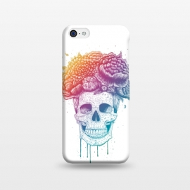 iPhone 5C  Colorful skull with flowers by kodamorkovkart