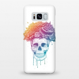 Galaxy S8+  Colorful skull with flowers by kodamorkovkart