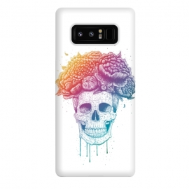 Galaxy Note 8  Colorful skull with flowers by kodamorkovkart