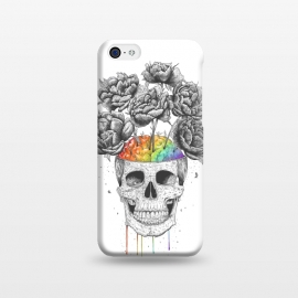 iPhone 5C  Skull with rainbow brains by kodamorkovkart