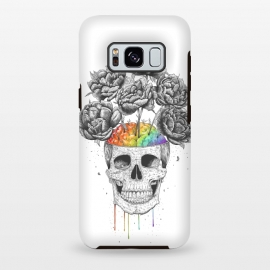 Galaxy S8 plus  Skull with rainbow brains by