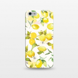 iPhone 5/5E/5s  Watercolor Lemon Pattern by Bledi