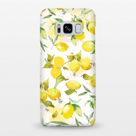 Galaxy S8+  Watercolor Lemon Pattern by Bledi