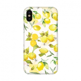 iPhone X  Watercolor Lemon Pattern by Bledi
