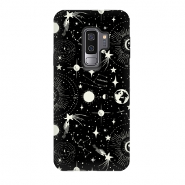 Galaxy S9+  Solar System by Heather Dutton (celestial,space,outer space,solar,solar system,sky,black,black and white,vintage,vintage style,retro,retro style,star,stars,moon,sun,galaxy,constellation,constellations,comet)