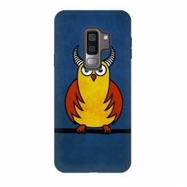 Galaxy S9+  Funny Cartoon Horned Owl by Boriana Giormova