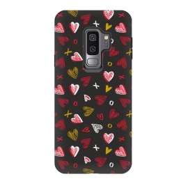 Galaxy S9+  Chalkboard Love by Kimrhi Studios (hearts,kisses,chalk,love)