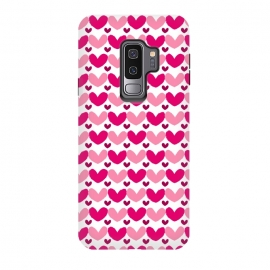 Galaxy S9+  Pink Brushed Hearts by Kimrhi Studios (love,hearts,pattern,pink)