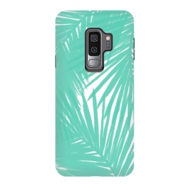 Galaxy S9+  Palms Teal by Caitlin Workman