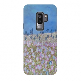 Galaxy S9 plus  Merry Meadow by  (fun,garden,modern,flowers,floral)