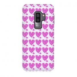 Galaxy S9 plus  Happy Heart by  (hearts,love,valentine,pink,purple,floral,flowers,whimsical,happy,romantic,girl,feminine)